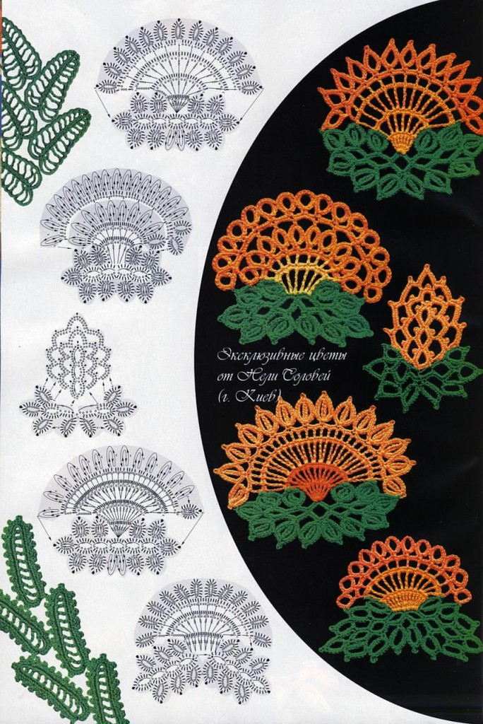 Шикарные цветы крючком