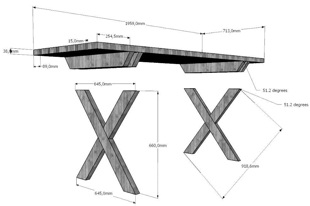 Как сделать стол из дерева своими руками простой