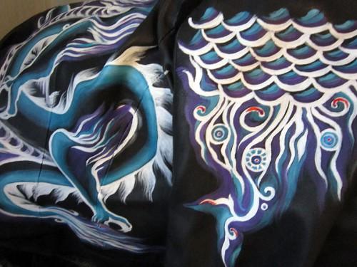 Роспись куртки акрилом - автор Shraddha (2)