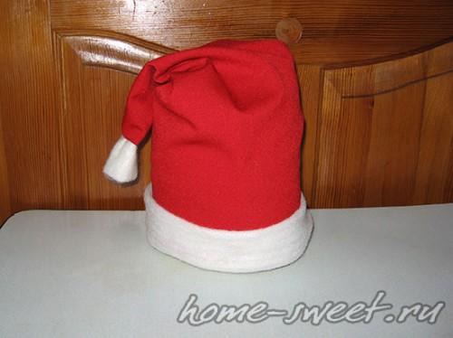 Как сшить новогоднюю шапку Деда Мороза 13