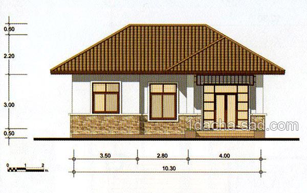 проект частного дома 10х10 метров