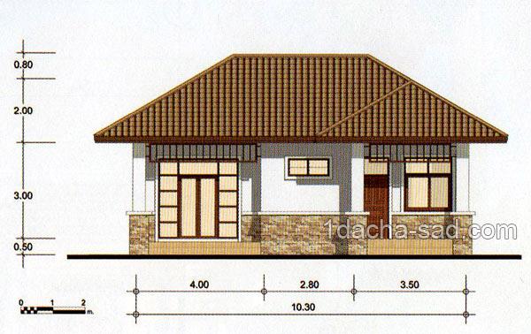 проект частного дома 10 на 10 метров