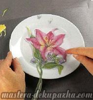 декупаж керамической вазы 3