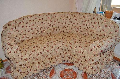 Чехол для углового дивана 5