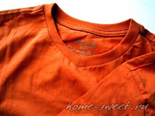 Кофточка для лета из футболки и цветной пряжи 2