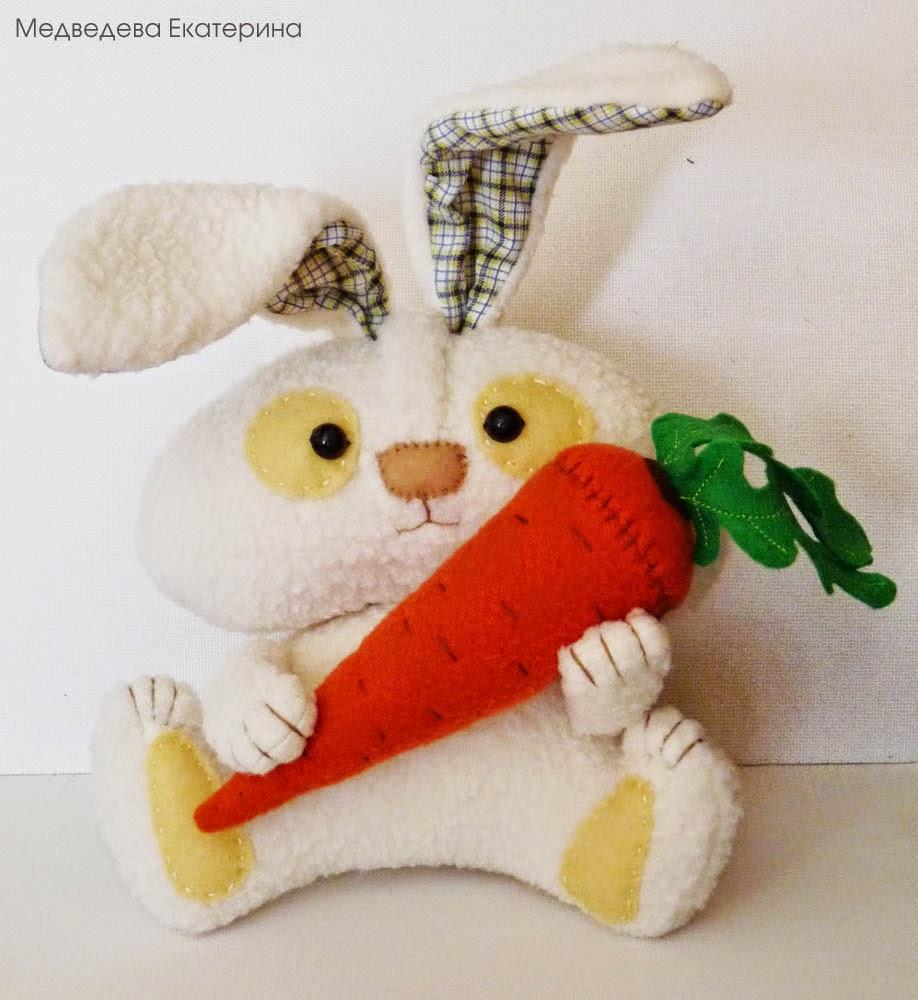 Мягкие игрушки своими руками зайчики