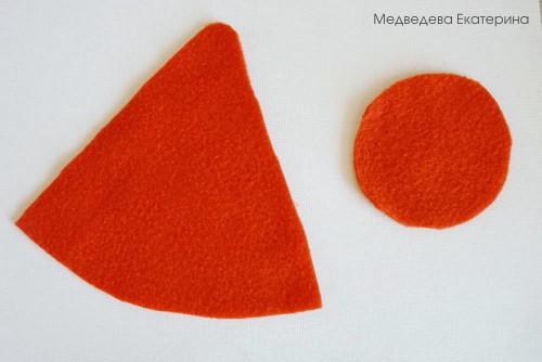 Морковь из флиса 34