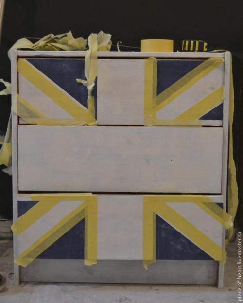 Покраска мебели - декор комода из ИКЕИ 2
