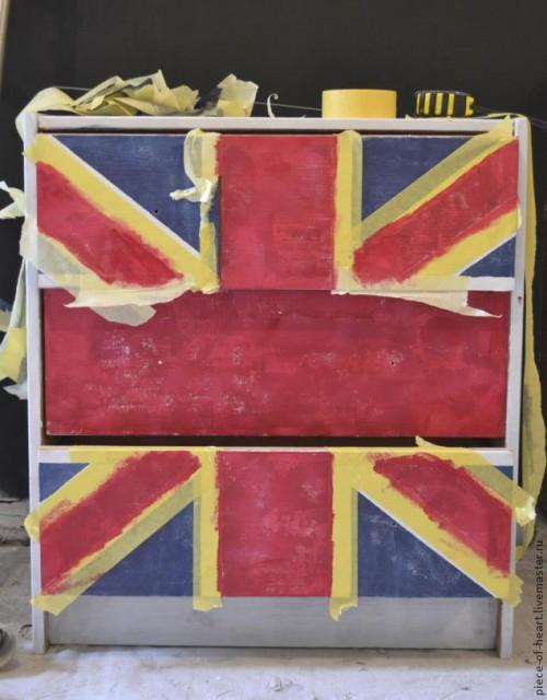 Покраска мебели - декор комода из ИКЕИ 3
