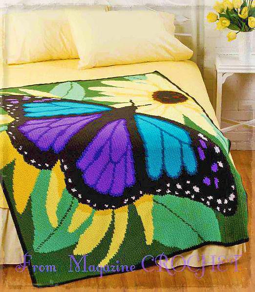 Плед с бабочкой