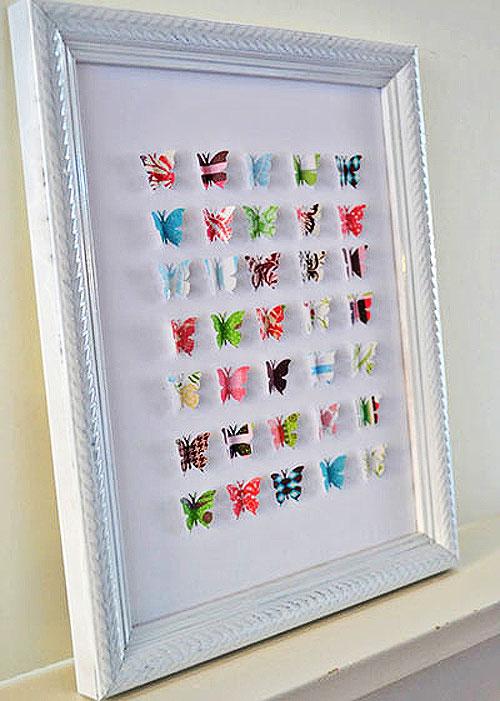 Декоративное панно с бабочками