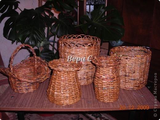 Плетение корзин из газет - мастер класс 1