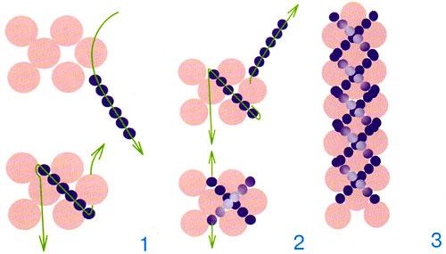 Схема плетения простого колье