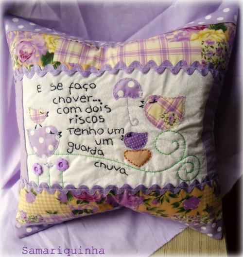 Идея сиреневой подушки