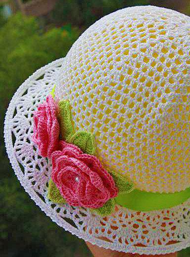 летняя женская шляпка крючком
