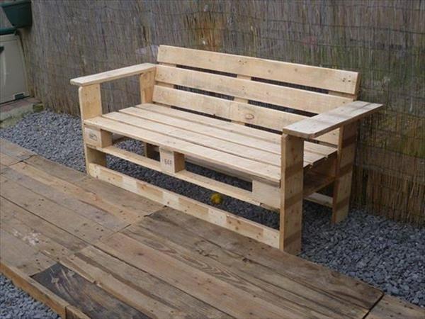 Как сделать скамейку из поддона своими руками