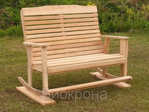 Скамейка качалка деревянная