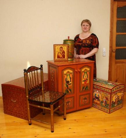 Наталья Толстова - роспись мебели