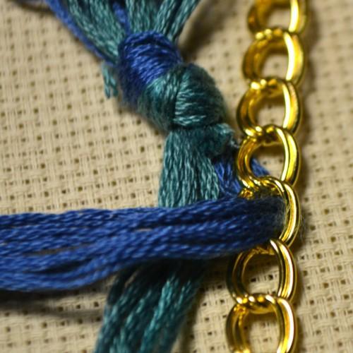 ожерелье из лент и бусин своими руками