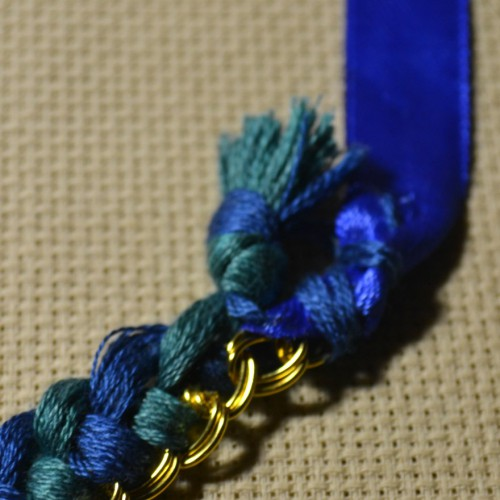 ожерелье из атласных лент своими руками