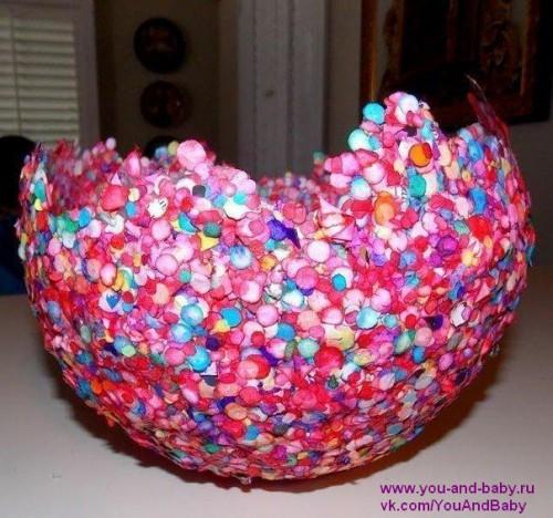 Заготовка вазы из конфетти