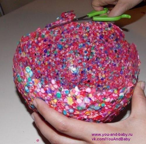 Готовая ваза из конфетти