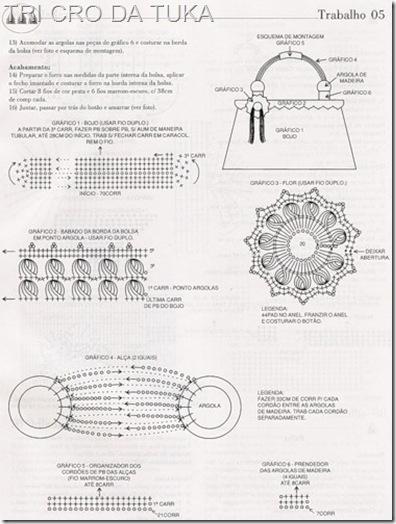 Схема вязания цветка крючком для сумочки