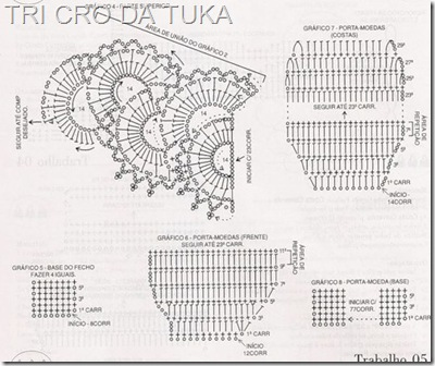 Схема вязания кружевного декора сумочки