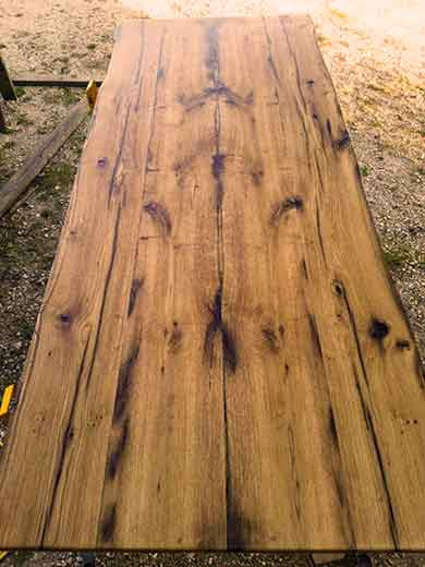Деревянный массивный стол своими руками