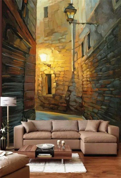 Объемная роспись на стене - 3D в интерьере
