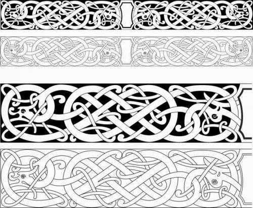 Пример орнаментов для резьбы по дереву