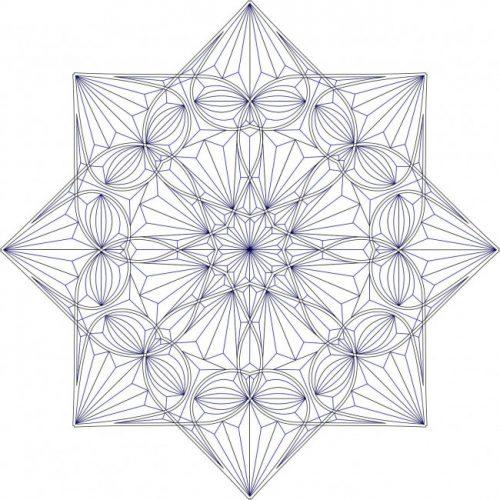 Эскиз резной розетки - восьмиугольника