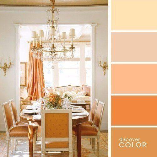 Палитра сочетания цветов в интерьере кухни столовой