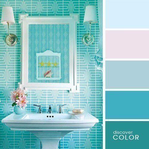 Палитра сочетания цветов в интерьере ванной