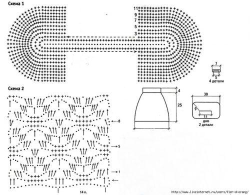 Вязание крючком схемы рюкзаков 17