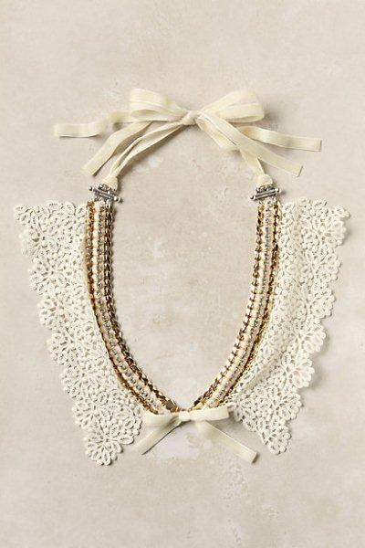 Декор воротничков блузки