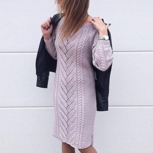 Платье спицами для женщины со схемой